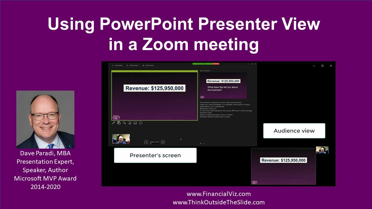 Using PowerPoint Presenter View with a single screen in a Zoom meeting  (Windows)