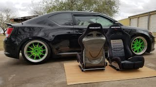 BRIDE Low Max  - Yellow Carbon Kevlar Real Reclinable Racing Seats - eBay Unboxing, Review & Specs