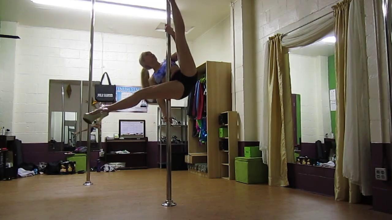 Pole Fitness warm up , spins, gemini, upside down pole ...