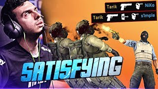 SATISFYING CS:GO PRO MOMENTS! (ONE TAPS & INSANE S...