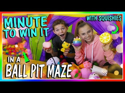 MINUTE TO WIN IT - SQUISHIES IN A BALL PIT MAZE | We Are The Davises