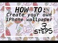 HOW TO: create your own phone wallpaper