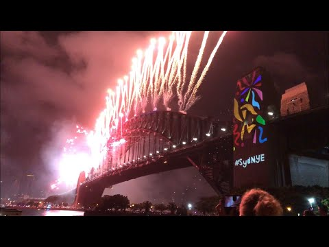 Sydney New Year's Eve 2017/2018 Midnight Fireworks