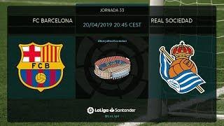 Calentamiento FC Barcelona vs Real Sociedad
