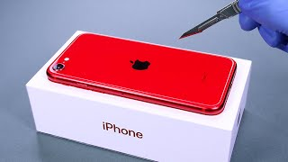 iPhone SE 2020 (Red Edition) Unboxing - ASMR