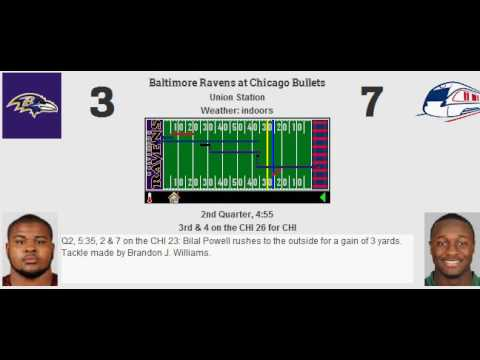 Week 1: Baltimore Ravens (0-0) @ Chicago Bullets (0-0)