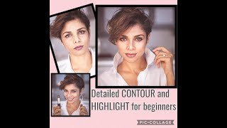Full face make up with just CONTOUR and HIGHLIGHTER/ TUTORIAL/Blush With Me