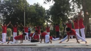 yoga show at kv afs barnala punjab by little angles robin yogi