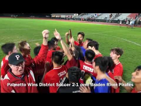 Palmetto Wins District Soccer 2-1 over Braden River Pirates
