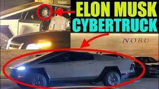Elon Musk Caught Driving Cybertruck To Nobu Restaurant!