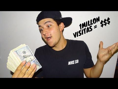 REVELO CUANTO DINERO GANE CON 1 MILLÓN DE VISITAS (CUANTO PAGA YOUTUBE)