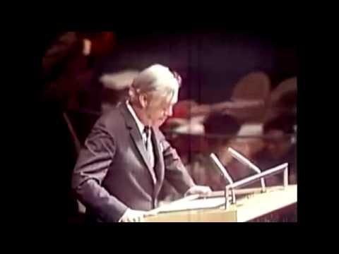 """Moynihan: 1975 UN Debate on """"Zionism is Racism"""" - Excerpts"""