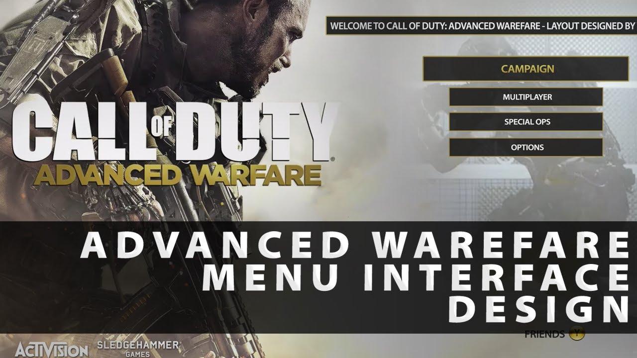 Call Of Duty Advanced Warfare Menu User Interface Design Youtube