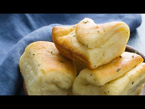 Garlic Herb Parker House Rolls Recipe