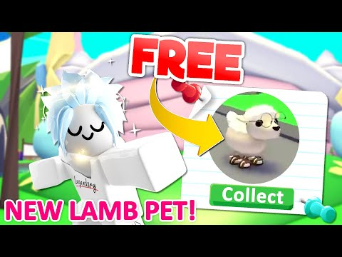 How to get the NEW EASTER LAMB PET for FREE In Roblox Adopt Me 🐑