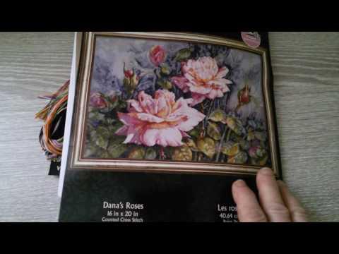 № 1 Dana's Roses. Bucilla.Обзор набора.