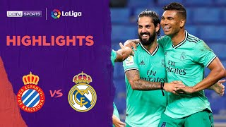 Espanyol 0-1 Real Madrid | Laliga 19/20 Match Highlights