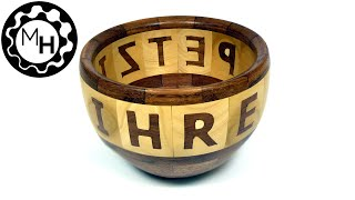 Segmented Bowl With Lettering