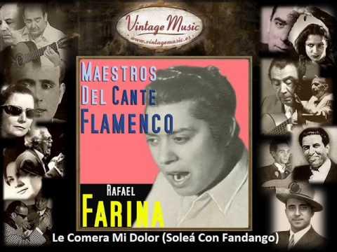 Rafael Farina - Le Comera Mi Dolor (Soleá Con Fandango) (Flamenco Masters)