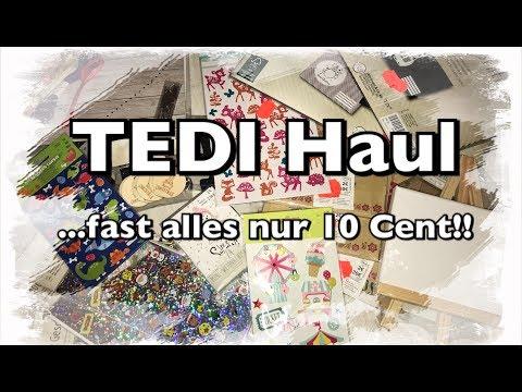 XL Tedi Haul (deutsch), fast alles 10 cent Schnäppchen, Sticker, DIY, Scrapbook