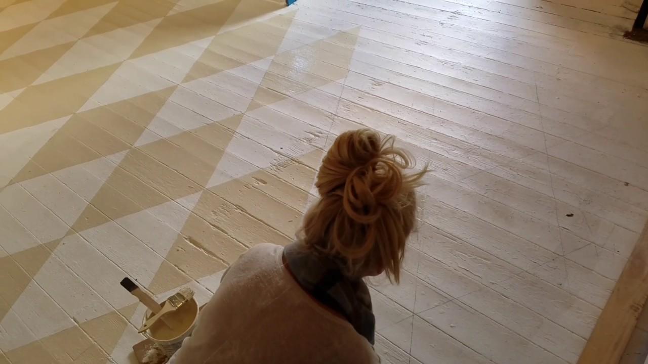 Painting Vintage Wood Floors You