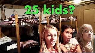 Vacation Nighttime Routine with 25 kids!