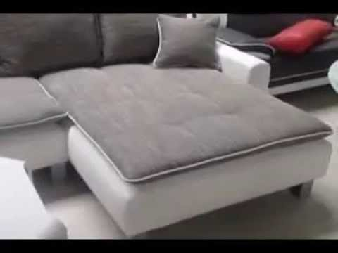 canap d 39 angle contemporain en simili youtube. Black Bedroom Furniture Sets. Home Design Ideas