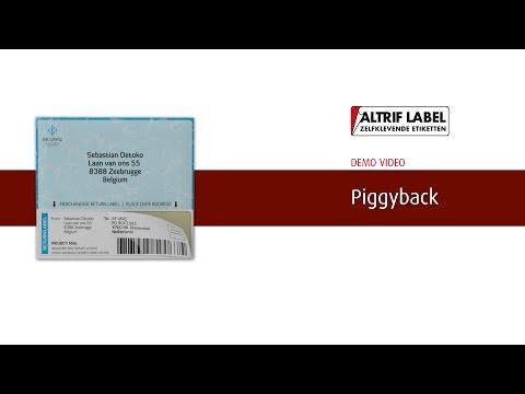 Piggyback etiket   etiketten op rol - Altrif Label
