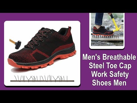 New Men's Breathable Steel Toe Cap Work Safety Shoes Men Boots Shoes