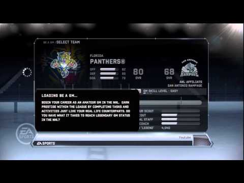 NHL 12 Be A GM: Choosing Our Team (Ep.1)