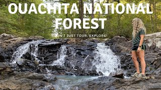 Free Tent Camping | Expl๐ring & Hiking in the Ouachita National Forest