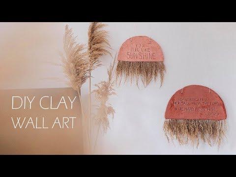 Simple DIY Scandinavian Boho Style Clay Wall Art   The ReStylers