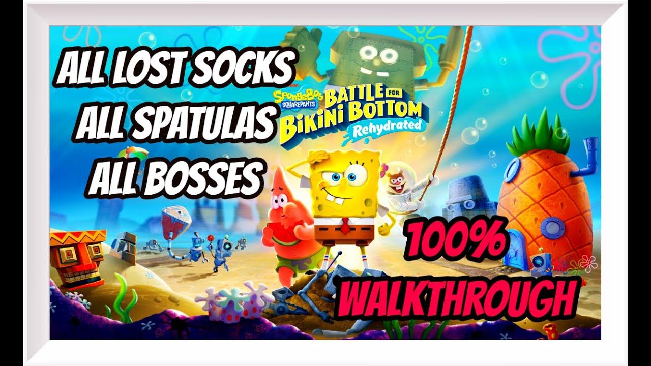 SpongeBob SquarePants Battle For Bikini Bottom Rehydrated: Complete Walkthrough / 100% Collectibles