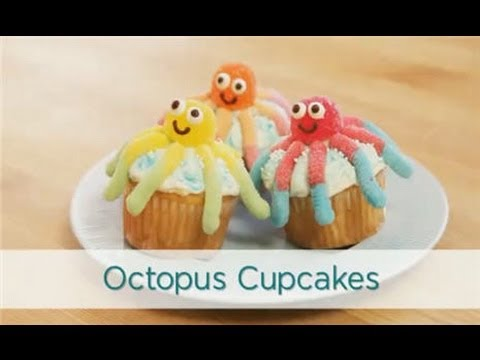Snack Recipes: Octopus Cupcakes