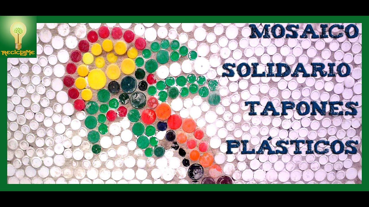 mosaico solidario tapones plsticos