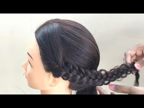Traditional Hairstyle For Girls || Traditional Hairstyle For Party || Girls Hairstyles thumbnail