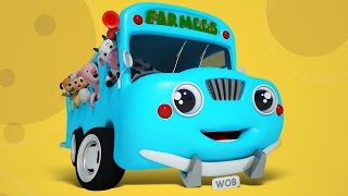 wheels on the bus   nursery rhymes for kids with farmees   songs for baby and childrens