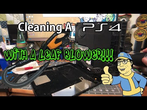 Sony PS4 Maintenance. Cleaning The Cooling Fan, With A Leaf Blower!