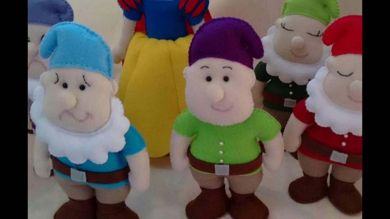 Branca de Neve e os 7 anões - Bonecos de feltro para decoração ... 0ab406ef919