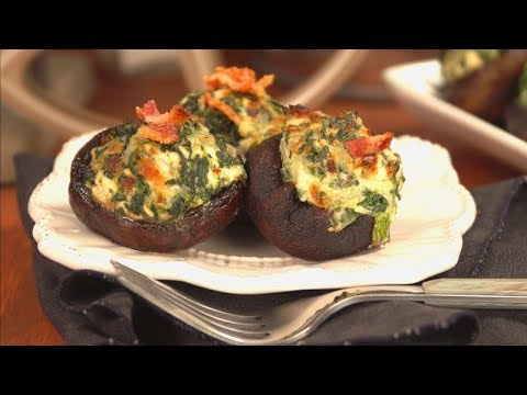 FRESH! Stuffed Florida Mushrooms With Spinach And Feta