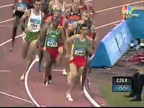2004 Athens Olympics 1500 Meter Final- El Guerrouj Wins Gold