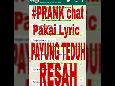 #prank chat Pakai lyric -PAyung Teduh - Resah bikin BAPER