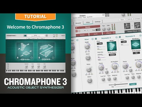 Welcome to the Chromaphone 3 acoustic object synthesizer plug-in