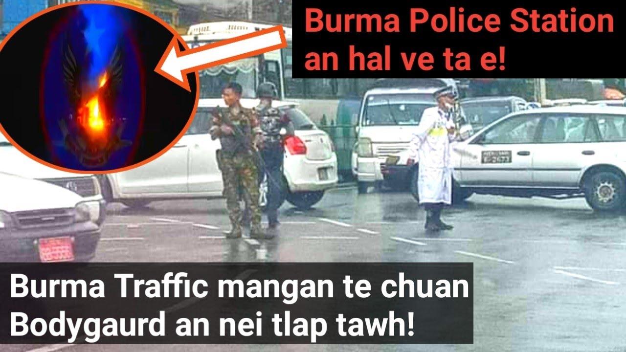Myanmar PDF te'n Burma Police Station lian tak an hâl(Sipaiten khua hal an hrât man?) Manganna!