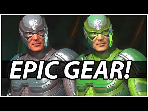 Injustice 2 - Atom EPIC Loadouts GEAR And Shaders!