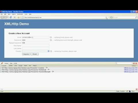 XMLHttpRequest object demo