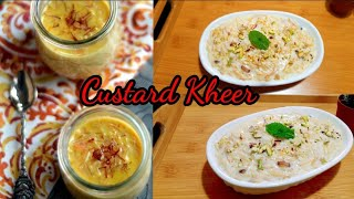 How to Make Custard Semiya Kheer | 10mins Custard Kheer | Custard Semiya Payasam | Shinys Menu