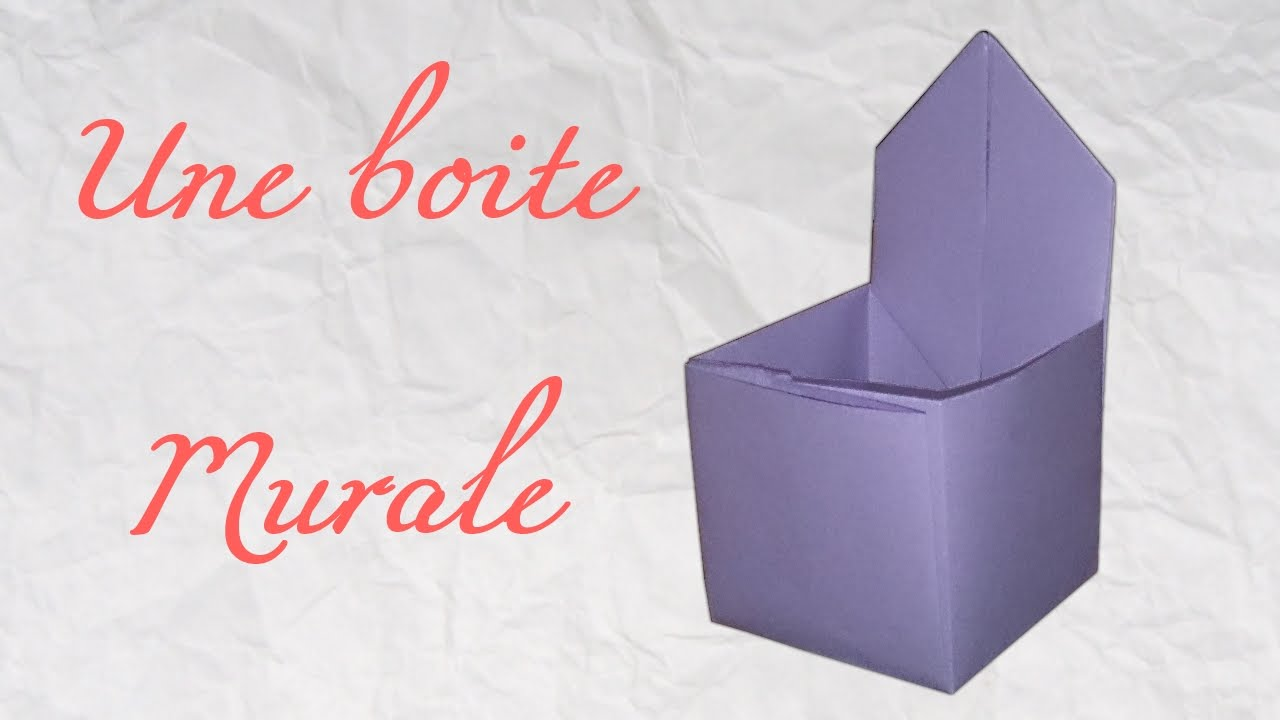 origami une boite murale youtube. Black Bedroom Furniture Sets. Home Design Ideas
