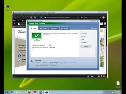 How To Microsoft Security Essentials Anti Virus Software Urdu Hindi
