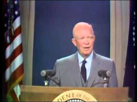 First TV color  videotaped Eisenhower 22 may 1958